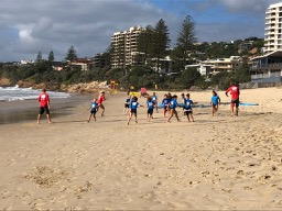 Coolum Beach surf club juniors