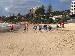 Coolum Beach surf club juniors